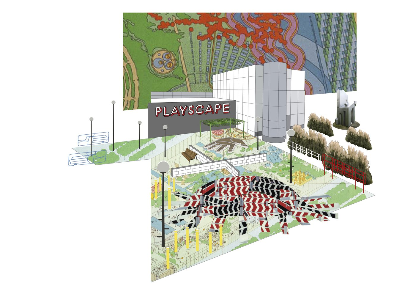 Proposal for Playscape next to MK Gallery